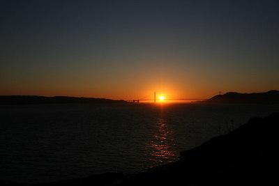 Sunset over the Golden Gate