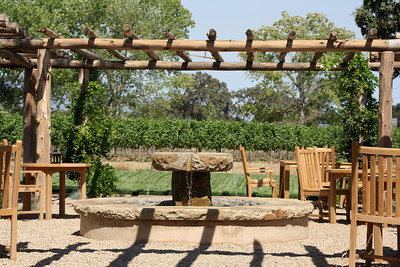 Pergola and Fountain  at the winery
