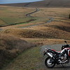 The new Africa Twin on Bear River Ridge Road