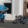 "Every year there is a race of ""kinetic sculptures"" from Arcata to Ferndale, over land and water.  These were at the post-finish party in Ferndale. (Meredith)"