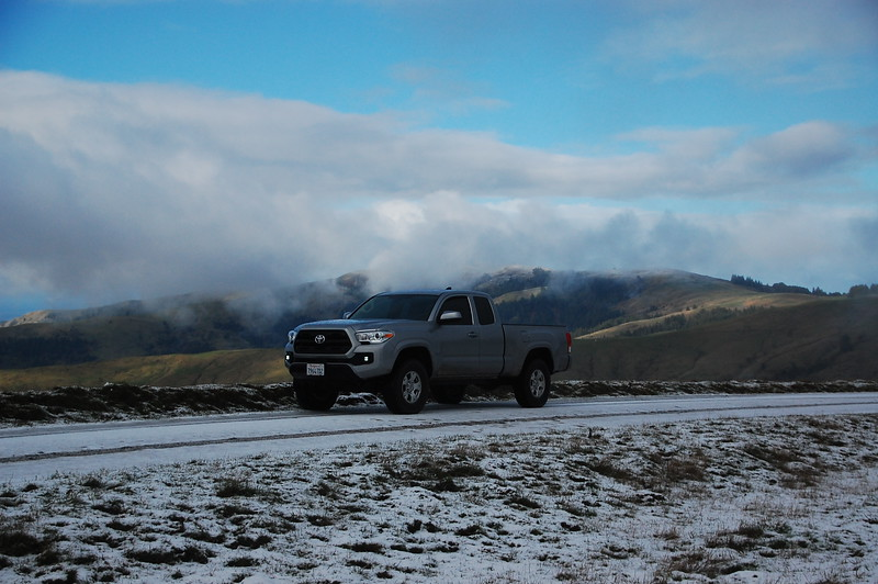 Just starting to get into the snow as UBRR climbs into the clouds past 1500 feet.