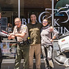 "We hosted Linis and Asta, from Lithuania, who are riding around the world over 18 months on motorcycles.  They are about 260 days into their journey now.  They spent a night with us and then we rode together a bit the next day. <br />  <br /> <br /> Follow their adventure at  <a href=""http://www.2wheeledadventures.com"">http://www.2wheeledadventures.com</a><br /> <br /> Linis, HCSO Deputy Greg Bickel (who is a motorcycle rider), me, and Asta at Black Lightning Motorcycle Cafe in Eureka<br /> <br /> Pic by Jeff, owner of BLMC, who is visible in the reflection"