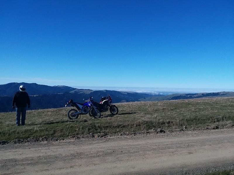 Ryan and the bikes on Bear River Ridge