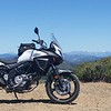 New motorcycle, old mountains