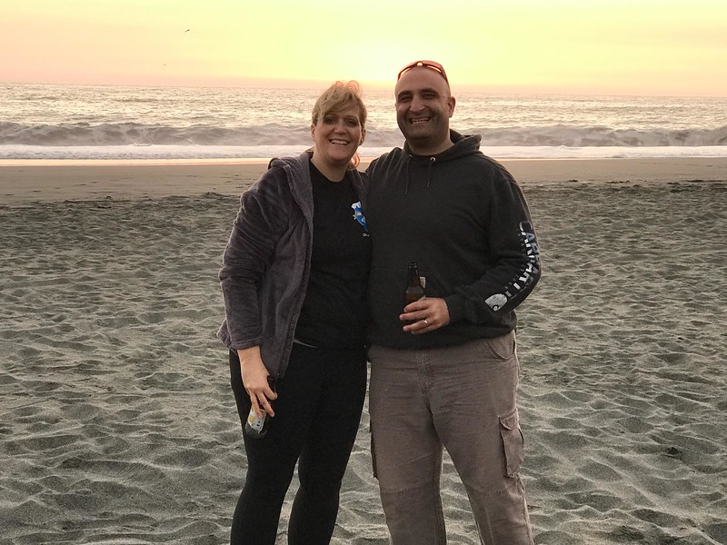 Meredith and I at Gold Bluff Beach near Orick.