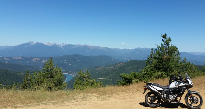 Overlooking Trinity Lake and the Klamath Mountains from Trinity Mountain Road