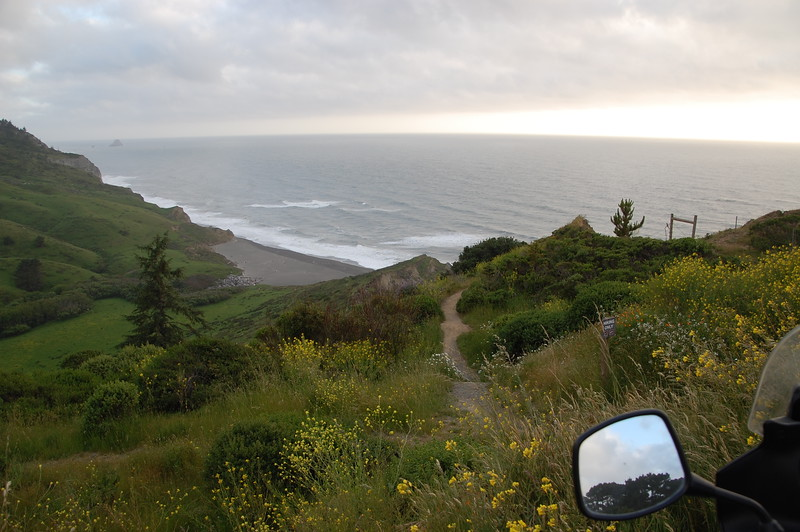 Ocean lookout near Ferndale.  You can see the curvature of the earth on the horizon.