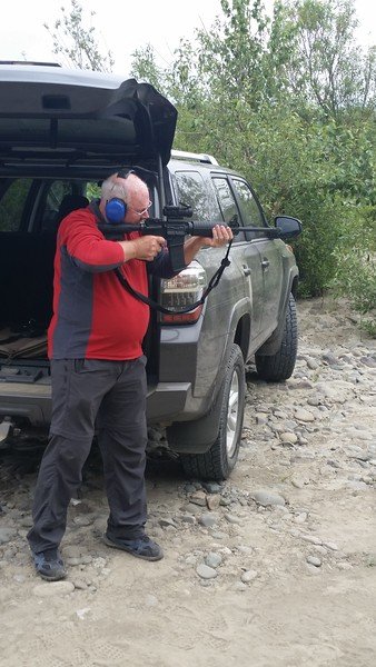 Guns are apparently super-regulated in Australia.  So he could get the true western US experience, I took Andrew shooting to the bank of the Eel River.