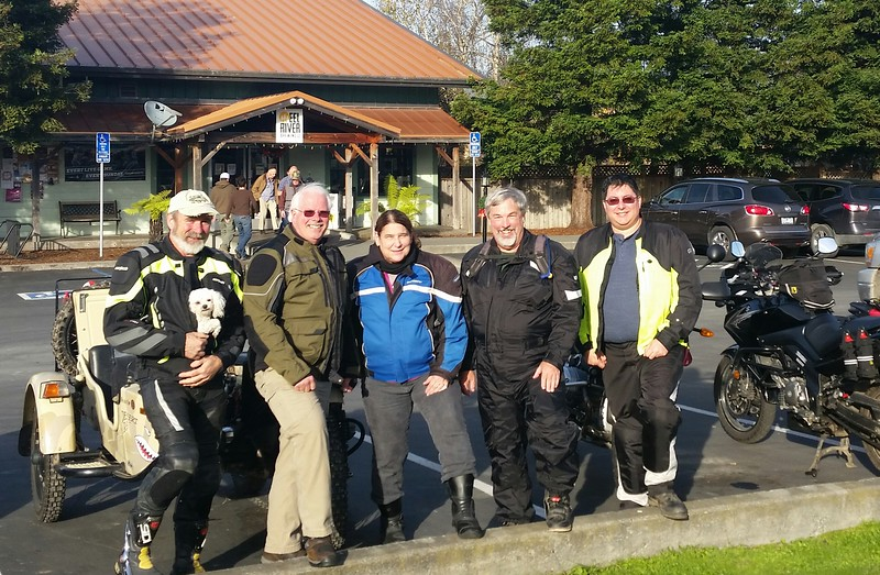 Local motorcyclist gathering at Eel River Brewery
