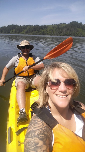 Kayaking on Stone Lagoon.  (Meredith)