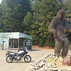 Bigfoot is a legend that began locally.  Artistic rendering at a crossroads in Happy Camp.