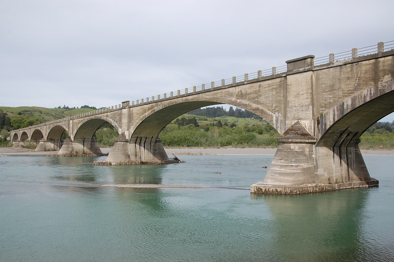 Fern Bridge, built 1911.  Spanning the Eel River.
