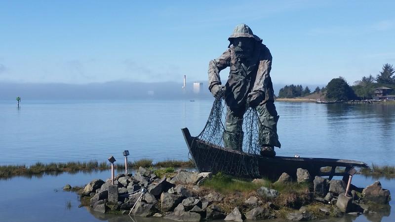 Fisherman's Memorial Statue on Woodley Island