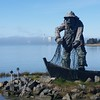 Fisherman's Memorial Statue on Woodley Island
