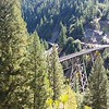 """The """"Keddie Wye"""", railroad tracks split around a mountain, near Quincy on Hwy 70.  Only one of these in the US."""