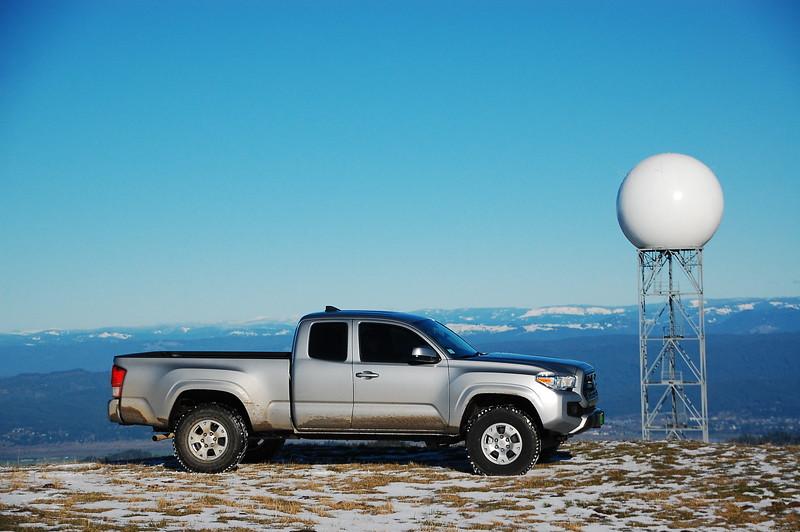 Radar station high above Ferndale
