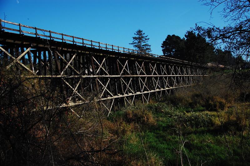 Old railroad trestle near Loleta