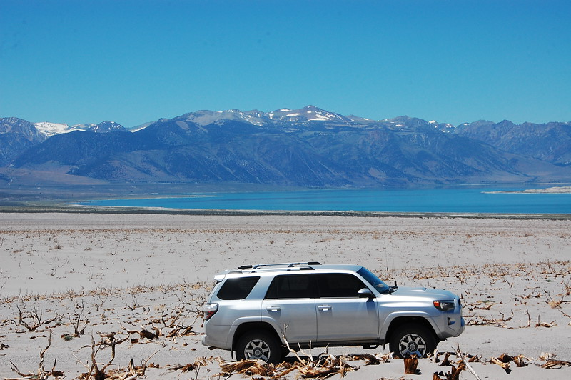 Mono Lake, near Yosemite.  Really interesting place.  A mix of desert, water, snow capped mountains, and lush greenery.  This was on a 4x4 trail that ran behind the lake and into the desert.
