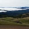 Above the clouds on Dyerville Loop Road.