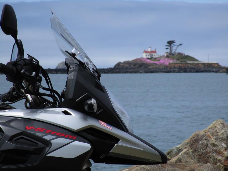 Lighthouse and V-Strom...