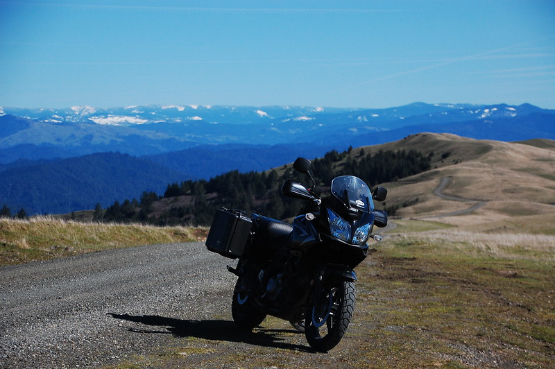 Upper Bear River Road winds into the snowy mountains near Rio Dell.