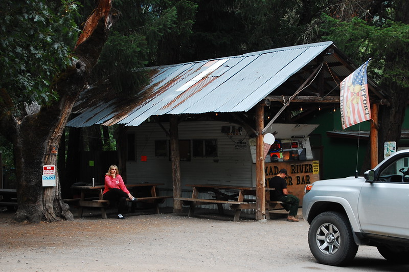 Breakfast at this shitty shithole, the Mad River Burger Bar.  The best food comes from the sketchiest places.