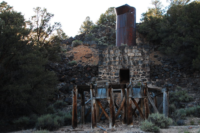 Old ore furnace in Nevada, just across from the California line.  Old mines and stuff like this are normal out here.  There's usually not even a placard or anything, it's just old infrastructure that no one thinks is really interesting.  Except me.