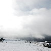 Snow and clouds atop Upper Bear River Road.