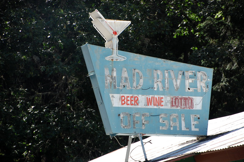 Mad River Bar sign.  I like old stuff like this.