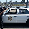 EPD cruiser with me, on Woodley Island.  Some of old town Eureka visible in the background.  (Photo by FTO Steve Linfoot)