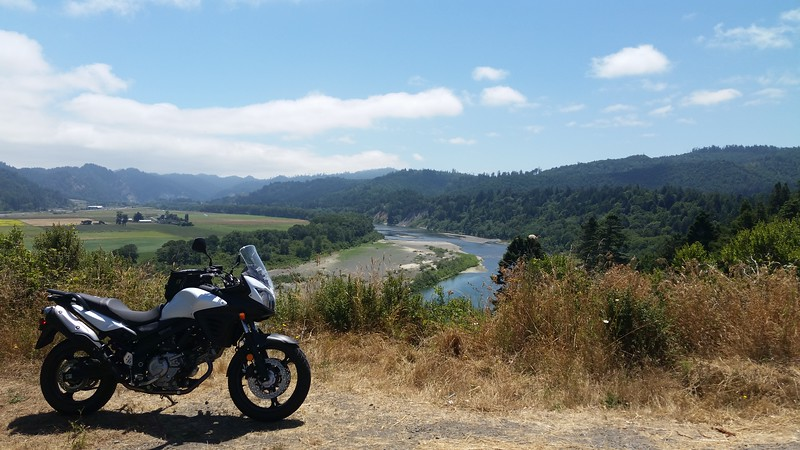 Overlooking the Eel River and valley from Blue Slide Road near Rio Dell