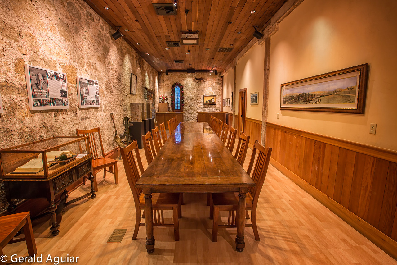 The conference room at the Chateau.  A wide angle lens was used (shot at 16mm) to get the entire room in the frame.