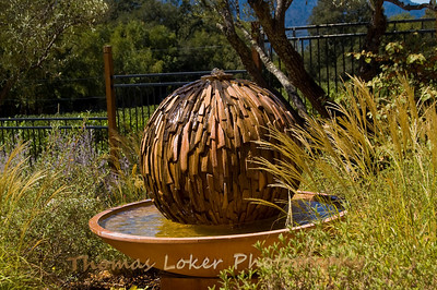 The fountain at Calistoga Ranch