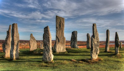 Standing stones at Calanais, Isle of Lewis  (20 x 10 panorama print)