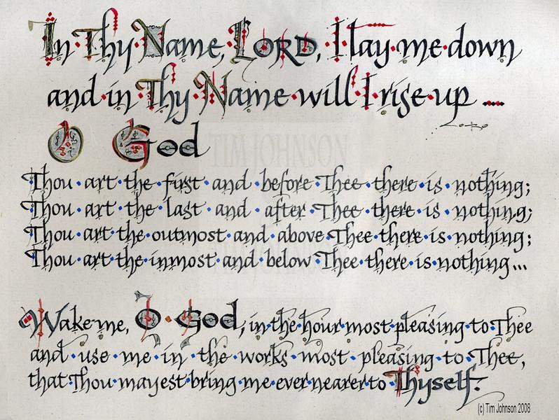 Nighttime Prayer<br /> Vertical & A Bit More Formal<br /> Tim Johnson 2008
