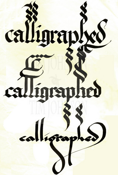 A Flourished Page Of Blackletter