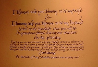 Written Wedding Vows