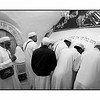 A Muslim and Jewish prayers in The  Tomb of the Prophet Samuel.