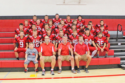 TV Football Pictured (front row, l-r) are: manager Logan Manderfield, coach Dan Stepan, coach Mark Scott and coach Justin Bakula; second row: Seth Huinker, Kannon Leuenberger, Kade Kruse, Eli Nymeyer, Keegan Balk, Luke Mueller and Tayton Messler; third row: Brady Schmitt, Elliott Dietzenbach, Sam Kout, Cole Vrzak, Garrett Kurtenbach, Eli Reicks and Jackson Vsetecka; fourth row: Kalvin Langreck, Marcus Herold, Dylan Reicks, Brody Hackman, Collin Kleppe, Brady Barta and Aidan Wemark and back row: Dylan Elsbernd, Ethan Leibold, Jason Herold, Billy Swestka and Carter Reicks. Photo by Michael Hohenbrink