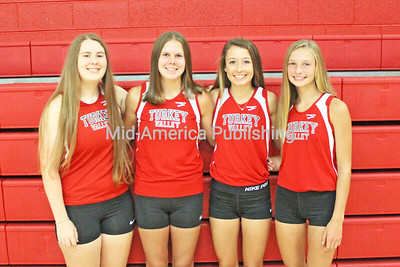 TV Girls Cross Country Pictured (l-r) are: Liza Herold, Cambree Kruse, Jaycie Byrne and Jalyssa Blazek. Photo by Michael Hohenbrink