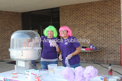 Stephanie Dennler and Missy Hvitved served up a sweet treat to guests.
