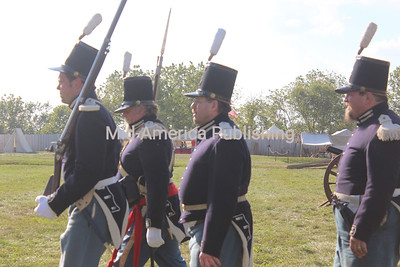 Men in historic uniform were among the things visitors could see.