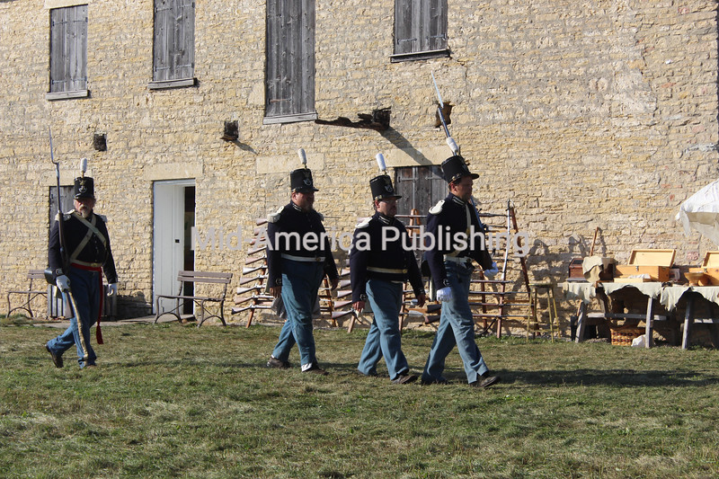 A double-take might have been in order as historic uniforms and old-time gear were on display during Rendezvous Days in Fort Atkinson over the weekend.