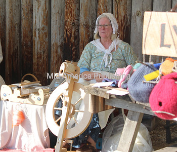 Kathie Aswegan was among vendors at Rendezvous Days.