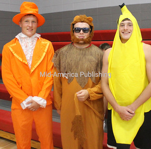 Showing Their Support Gabe Kipp, Braxton Smith and Rodney Schwartzhoff showed up to support South Winneshiek girls as they hosted West Central Thursday. Photo by Michael Hohenbrink
