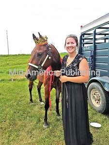 2018 Winneshiek County Fair Princess Dane Taylor and her horse Prince Sterling.
