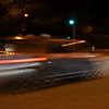 Look at that strobe effect from the mercury streetlights! The exposure was 1/8 of a second, and I see 15 images of the car...which means streetlights strobe at 120Hz. Woohoo math!