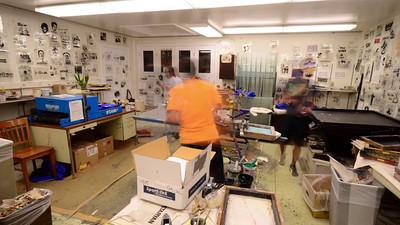 Curious George Tshirt Screening Setup - 120X realtime