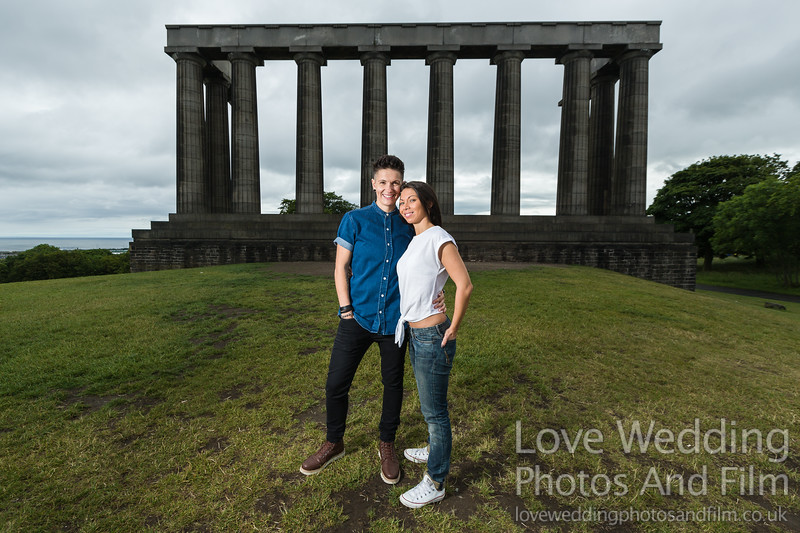 Calton Hill Pre-Wedding Photo Shoot - Donna and Leanne-1002