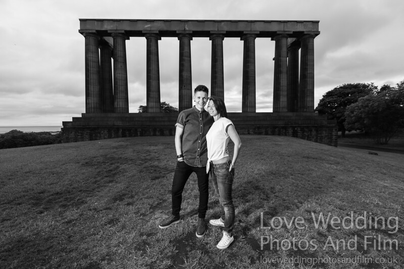 Calton Hill Pre-Wedding Photo Shoot - Donna and Leanne-1055